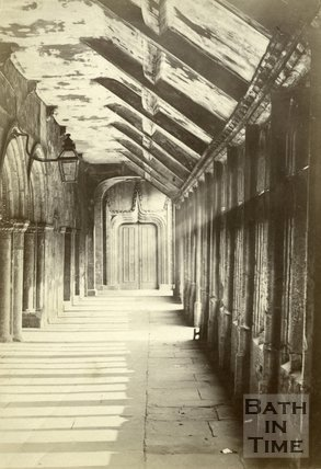 Inside Bath Abbey, Bath c.1880