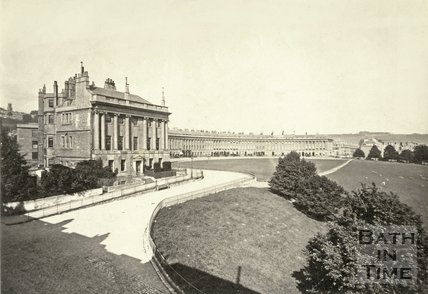 The Royal Crescent, Bath c.1865