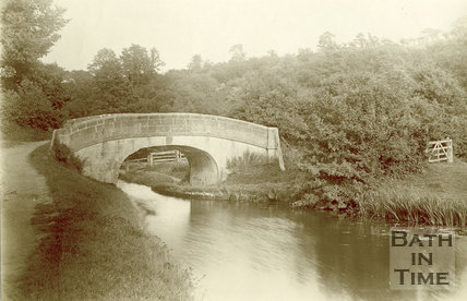 Accommodation bridge on the Somersetshire Coal Canal, South Stoke 1894