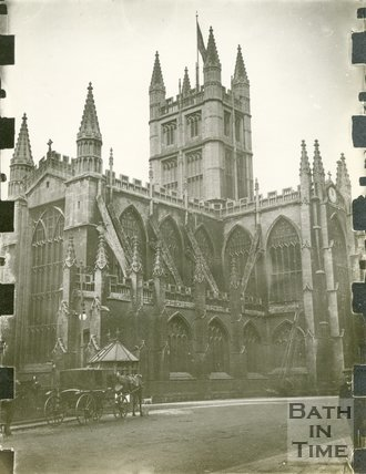 Bath Abbey from Orange Grove, Bath 1898