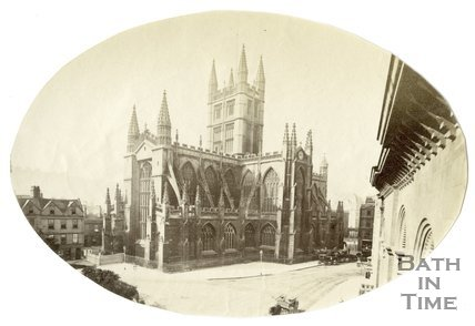 View of Bath Abbey from the Police Station, Bath c.1873