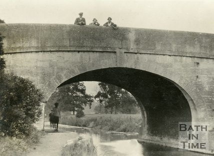Bridge over the Kennet and Avon Canal, Bathampton c.1920