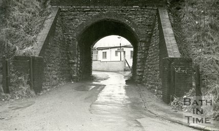 Bridge under the Somerset and Dorset railway line linking Millmead Road and Dartmouth Avenue, South Twerton, Bath 1968