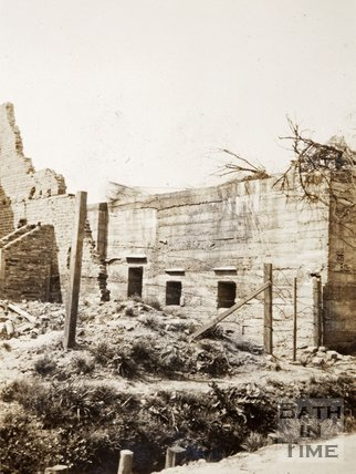 Ruined buildings, near Armentieres, France