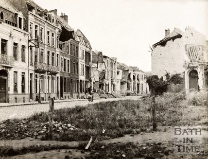 Ruined buildings, Armentieres, France