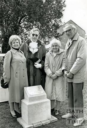 25th April 1992, Bath Blitz Memorial Stone at Oldfield Park Bath
