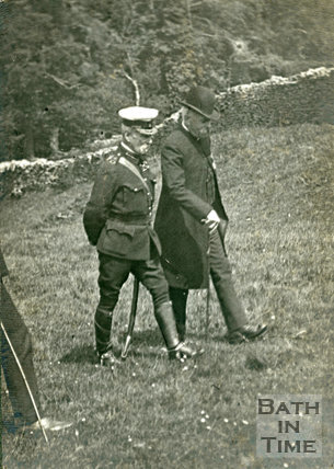Believed to be a visit of Clemenceau and Field Marshall French, 1916