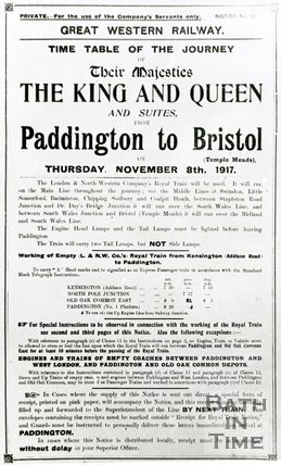 Visit of King George V and Queen Mary by train to Bristol, November 8th 1917