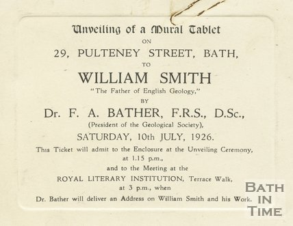 Invitation card to the unveiling of a tablet to honour william smith invitation card to the unveiling of a tablet to honour william smith 10th july 1926 stopboris Image collections