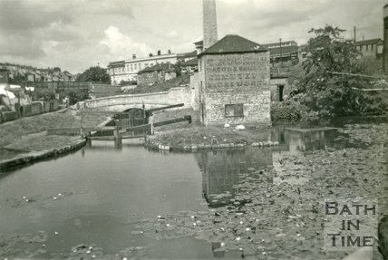 First Pond and Thimble Mill, Kennet and Avon Canal, Bath 1958