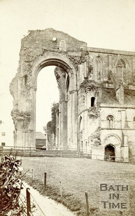 The ruined exterior, Malmesbury Abbey, Wiltshire c.1864