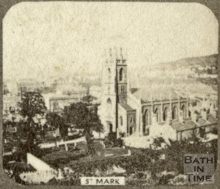 St. Mark's Church and burial ground, Widcombe, Bath c.1863