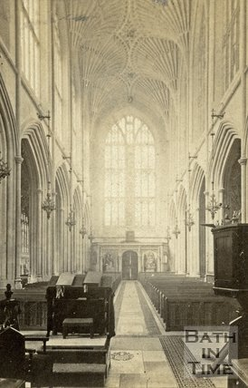 The nave, Bath Abbey, Bath c.1868
