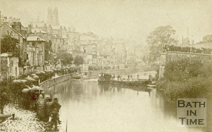 The aftermath of the Widcombe Bridge disaster, Bath 1877