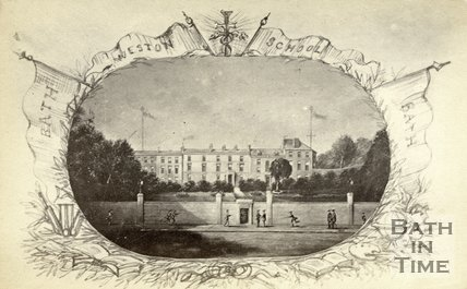 Reproduction of a painting of Weston School, Bath c.1868