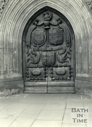 The west door, Bath Abbey, Bath c.1960
