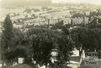 View of the rear of Kensington Place, London Road, Bath c.1920?
