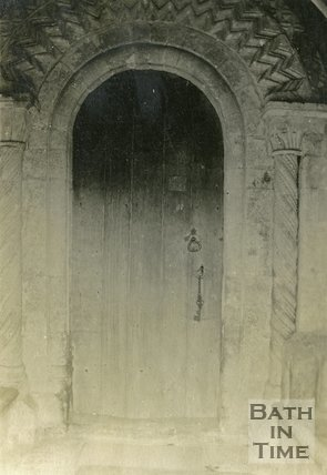 Norman doorway, St. Mary Magdalene Church, Langridge c.1930