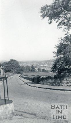 Widcombe Hill from Macauley Buildings, Bath 1957