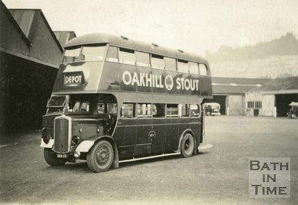 Bath bus at the Kensington bus depot, London Road, Bath c.1950