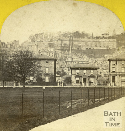 Camden Crescent from Henrietta Park, Bath c.1865