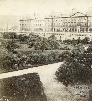 Institution Gardens and North Parade, Bath 1862