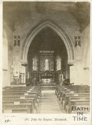 Interior of St. John the Baptist Church, Bathwick, Bath c.1875