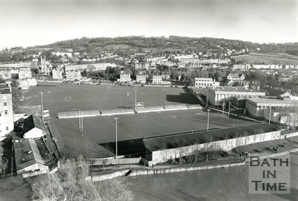 View of the Recreation Ground, Bath, 25 March 1991