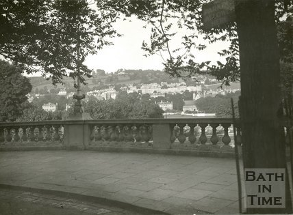 View from Grand Parade, looking towards the Recreation Ground, Bath, c.1940s?