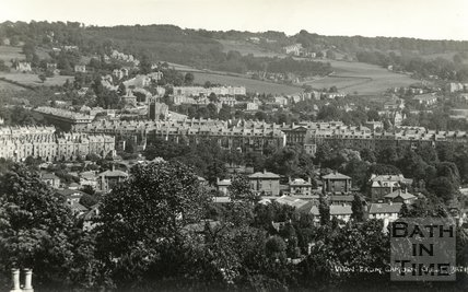 View from Camden Crescent, Bath looking east, c.1930s