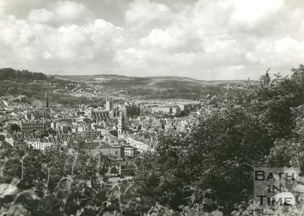 General view of Bath from Beechen Cliff, 1950