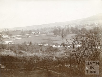 View from the Warminster Road at Dry Arch towards Bathford, c.1890