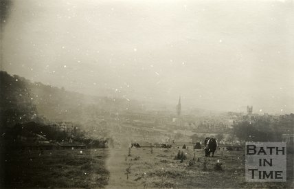 View of Bath from Bathwick Hill, 18 November 1945