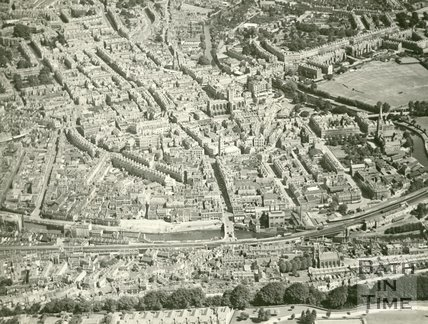 1930 Aerial view of Bath, July