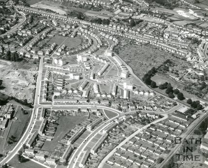 1966 Aerial view of Oldfield Park and Twerton, Bath