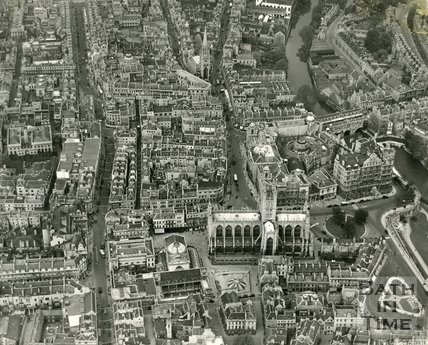 1937 Aerial view of Bath City Centre, May 19th