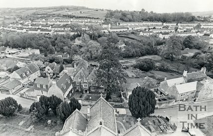 View from the spire of St John the Baptist Church, Northend, Batheaston, 20 May 1983