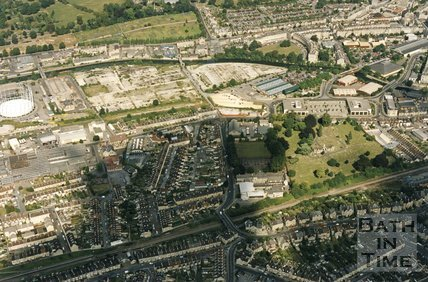 1993 Aerial View of Oldfield Park, Bath, September