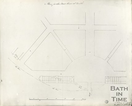 Robert Adam's proposed plan of the New Town in the area that became Laura Place, Bath, 23 December 1782