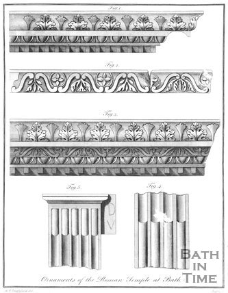 Ornaments of the Roman Temple at Bath