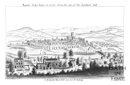 Bath - Aquae Solis July 21, 1723. From the top of the Southern Hill