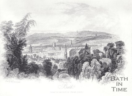 Bath (from the vicinity of Prior Park), 1850