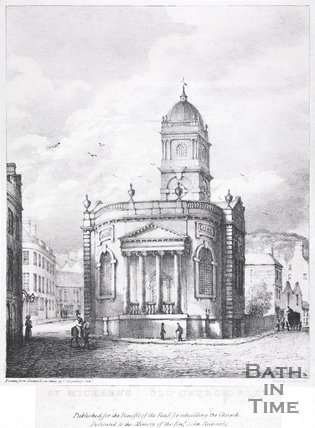 St. Michael's Old Church, Bath, 1835