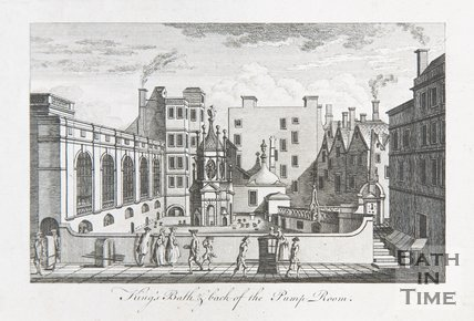 King's Bath & back of the Pump Room, c.1765