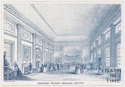 Grand Pump Room, Bath, 1841