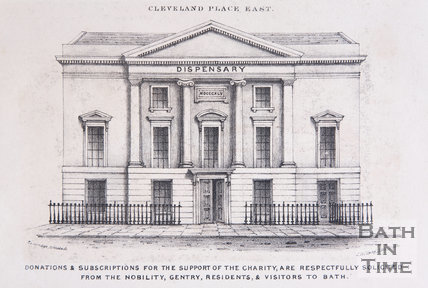 The Eastern Dispensary, Cleveland Place East, Bath, c.1845