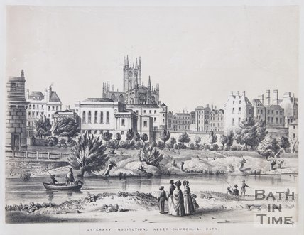 Literary Institution, Abbey Church, & c. Bath, c.1837