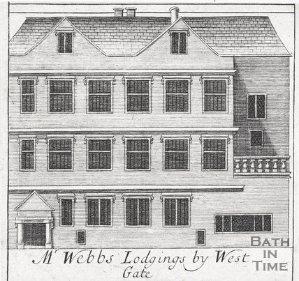 Mr Webbs Lodgings by West Gate, Bath, 1694