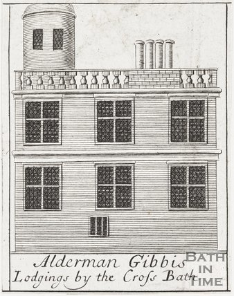 Alderman Gibbis Lodgings by the Cross Bath, 1694