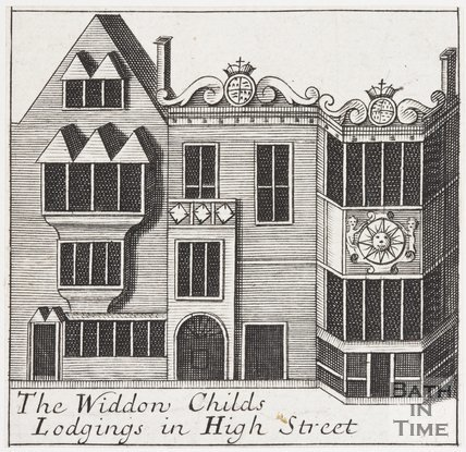 The Widden Childs Lodgings in High Street, Bath, 1694
